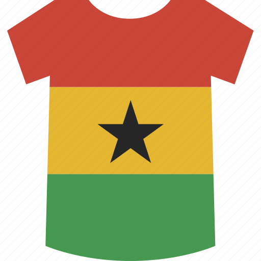 ghana, shirt icon