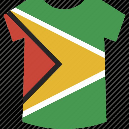 guyana, shirt icon