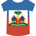 haiti, shirt icon