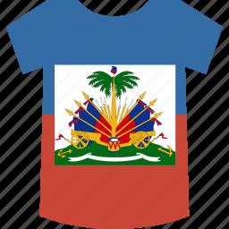 haiti, shirt icon