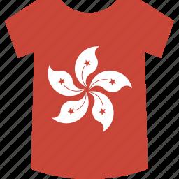 hongkong, shirt icon