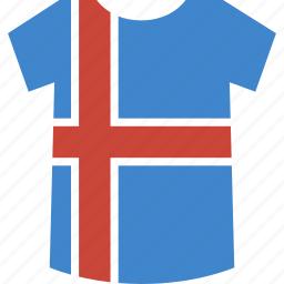 iceland, shirt icon