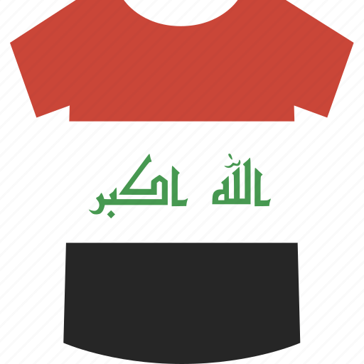 iraq, shirt icon