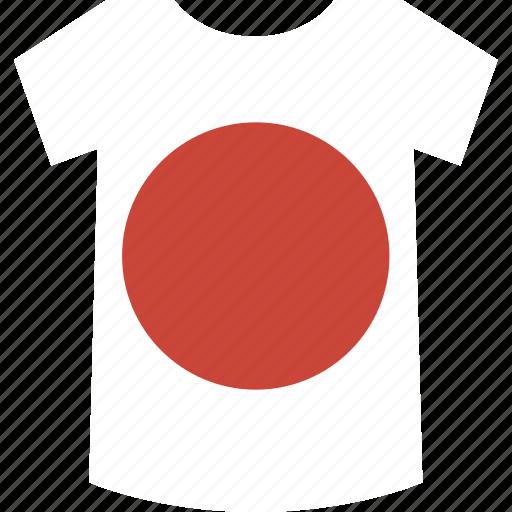 japan, shirt icon