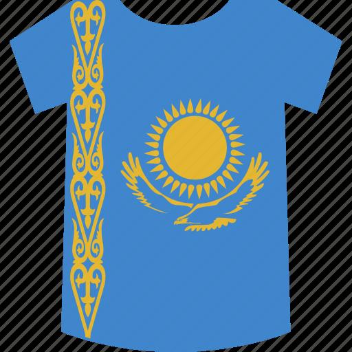 kazakhstan, shirt icon