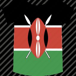 kenya, shirt icon