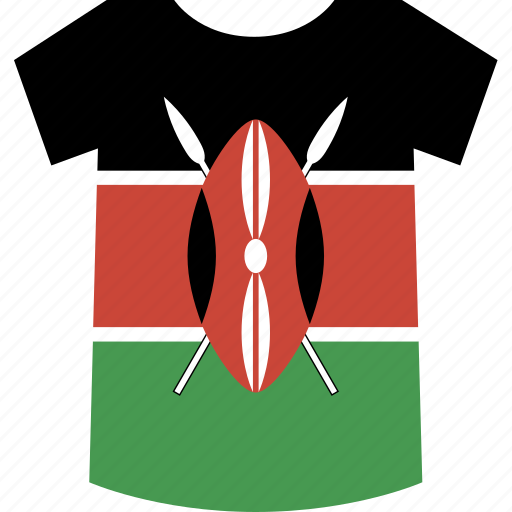 kenya, shirt icon