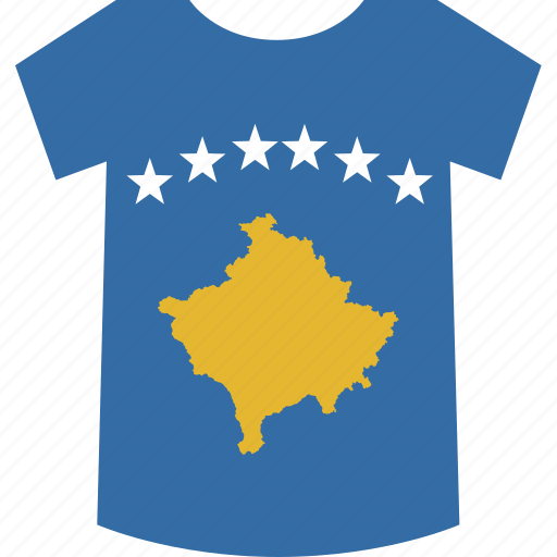 kosovo, shirt icon
