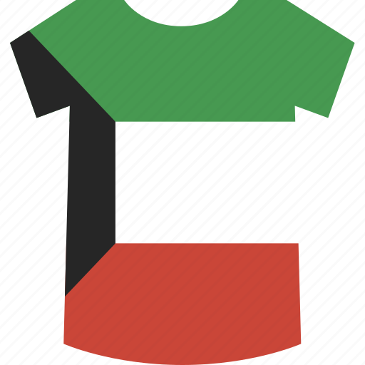 kuwait, shirt icon