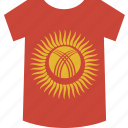 kyrgystan, shirt icon