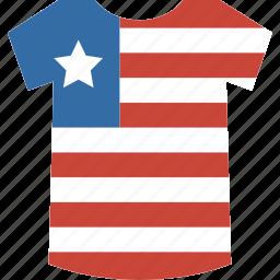 liberia, shirt icon
