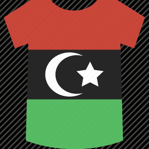libya, shirt icon