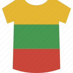 lithuania, shirt icon