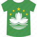 macau, shirt icon