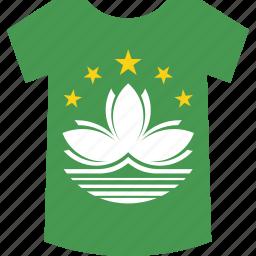 macau, shirt icon