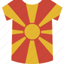 macedonia, shirt icon