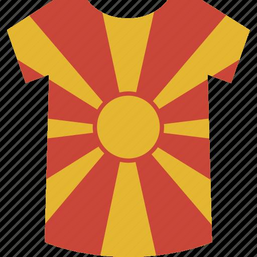 macedonia, shirt icon