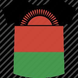 malawi, shirt icon
