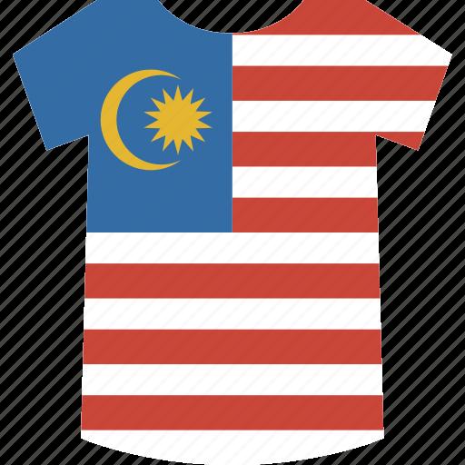 malaysia, shirt icon