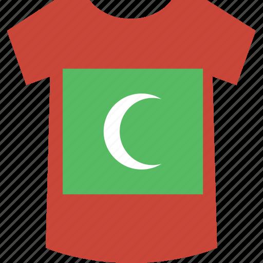 maldives, shirt icon