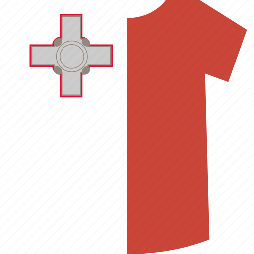malta, shirt icon