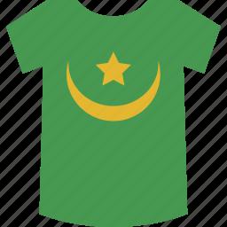 mauritania, shirt icon