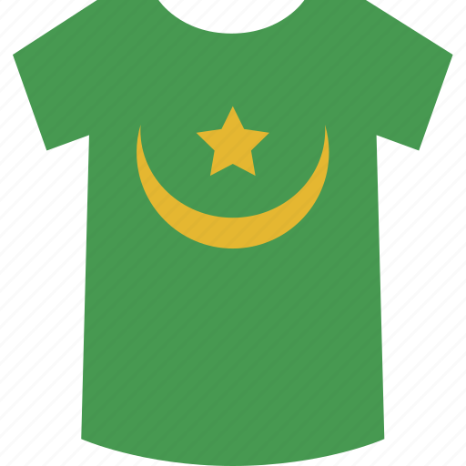 mauritania, shirt icon