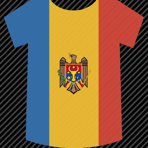 moldova, shirt icon