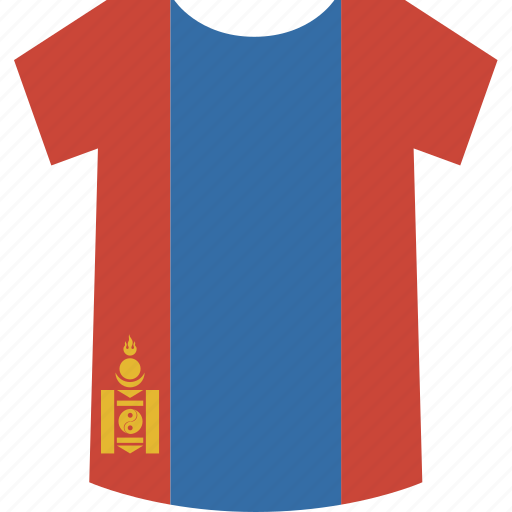 mongolia, shirt icon