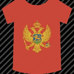 montenegro, shirt icon