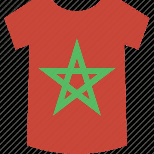 morocco, shirt icon