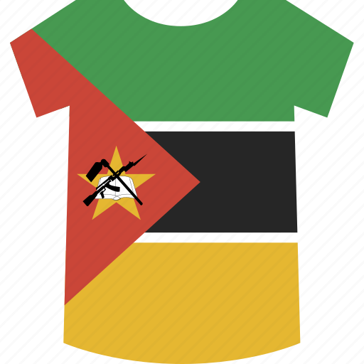 mozambique, shirt icon