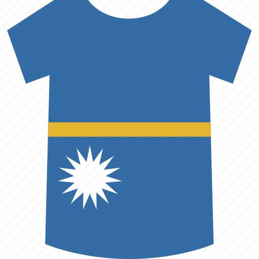 nauru, shirt icon