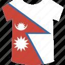 nepal, shirt icon