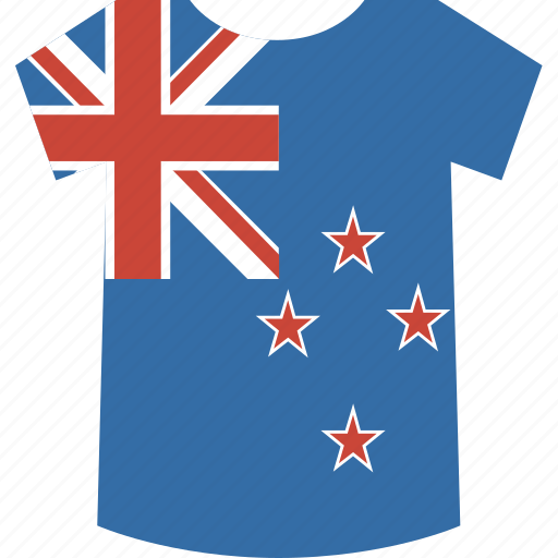 new, shirt, zealand icon