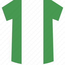 nigeria, shirt icon