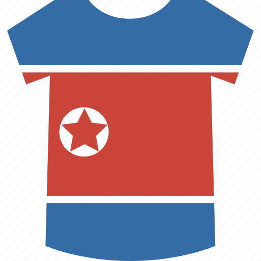 korea, north, shirt icon