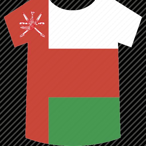 oman, shirt icon
