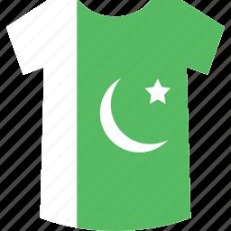 pakistan, shirt icon