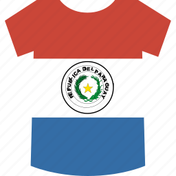 paraguay, shirt icon