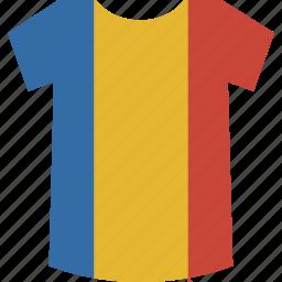 romania, shirt icon