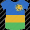 rwanda, shirt icon