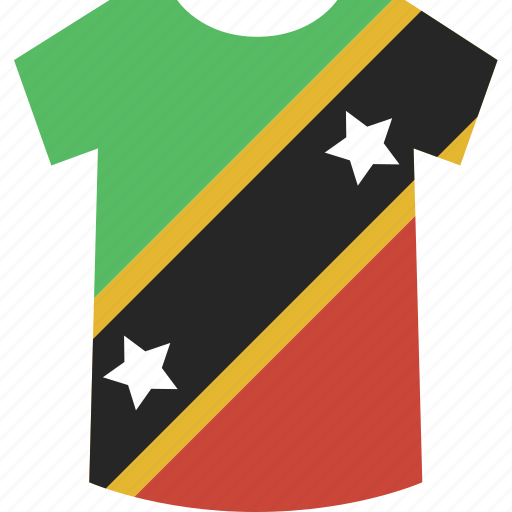 and, kitts, nevis, saint, shirt icon