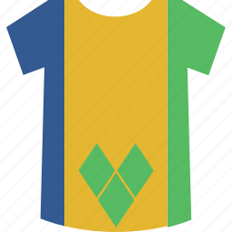 and, grenadines, saint, shirt, vincent icon