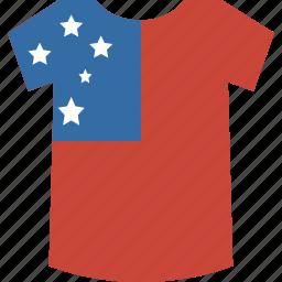 samoa, shirt icon