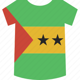 principe, sao, shirt, tome icon