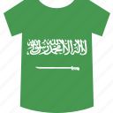 arabia, saudi, shirt icon