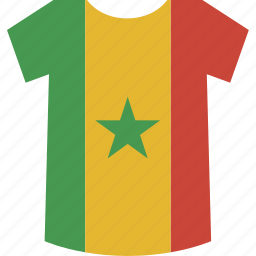 senegal, shirt icon