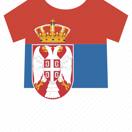 serbia, shirt icon