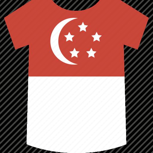 shirt, singapore icon